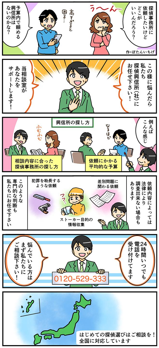 探偵興信所漫画はじめての利用